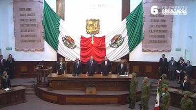 06 de noviembre. Informe | El gobernador Rubén Moreira Valdez presentó su sexto y último Informe de Resultados en el Palacio Legislativo.