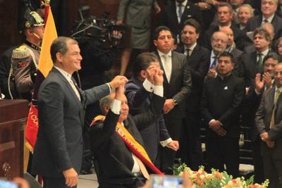 24 de mayo. Investidura | Lenín Moreno toma posesión como presidente de Ecuador.