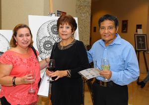 23122017 EN EXPO.  Carolina Zapico, Cony Ríos y Gabriel Marquez.