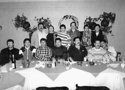 """24122017 Equipo GR en cena navideña """"Los Alazanes"""" en la década de los 80."""