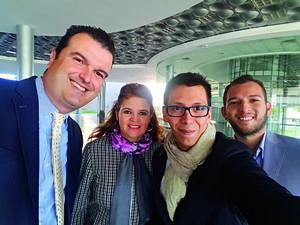 25122017 SE TOMAN LA SELFIE.  Carlos Bejos, Rosy Campos, Pineda Damián y Luis Felipe.