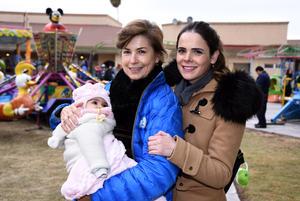 Flora, Jimena y Alessia