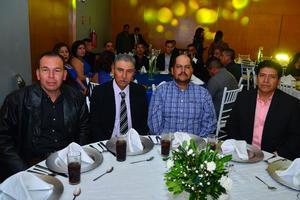 28122017 EN RECIENTE FESTEJO.  Manuel, Fernando, Gilberto y Gerardo.