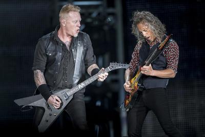 """01 de marzo. Metallica   La banda se presentó en el Foro Sol como parte de su gira """"World Wired 2017""""."""