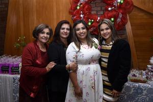 30122017 Teresa Romero, Hortensia García, Sofía y Claudia de León.