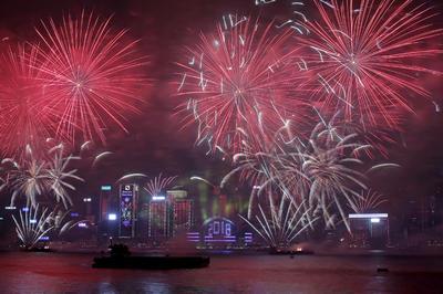 En Honk Kong ya comenzaron los festejos por el año nuevo.