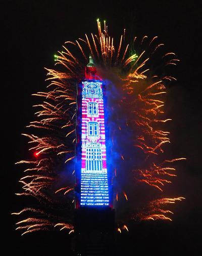 Taiwán ya celebra con pirotecnia la llegada del año nuevo.