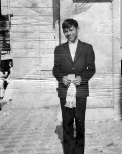 Eduardo Salais Barrón (f) en en 1970.