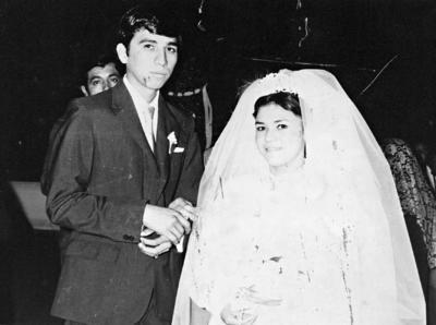 Feliciano Soto Reyes y María del Socorro Puentes Castro celebraron su unión matrimonial el 31 de diciembre de 1971.