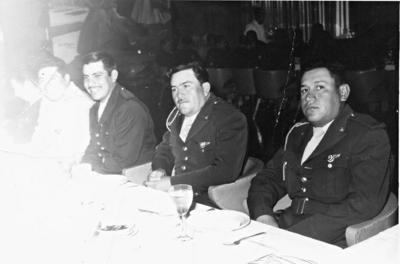 Agente de tránsito del Estado Rudi Álvarez, Javier Burciaga y José Antonio Segovia en 1976.