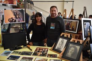 02012018 RECIENTE EXPOSICIóN DE ARTE.  Tania y José Manuel.