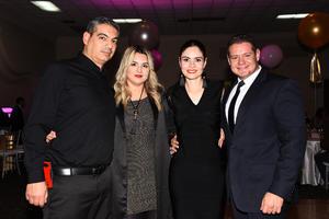 05012018 Samir Jaidar, Nancy Rodríguez, Leticia Jaidar y Alberto Lucero.