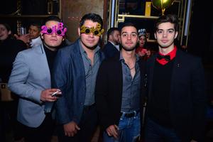 05012018 FESTEJANDO.   Javier, Lalo, Juan Carlos y Valente.