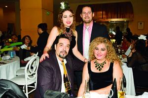 08012018 Rossy Venegas, Tomás González, Edgar Alvarado y Silvia González.