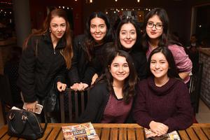 09012018 Erika, Mónica, Mary Fer, Brenda, Vanessa y Andrea.