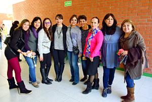 09012018 CONTENTAS.  Malena, Paty, Lupita, Marcela, Gladis, Ruth, Luli, Victoria y Karla.
