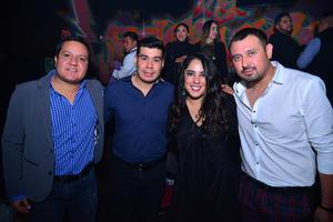 Julián, Óscar, Sofía y Daniel