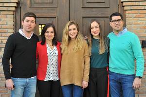 Adalberto, María Luisa, Luisa Fernanda, Bárbara y Diego
