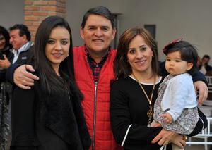 Andrea, Fernando, Pilar y Paula