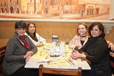 Sandra Casas, Verónica Rivas, Maguis Natera y Cristina Delgado.