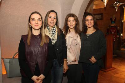 Jessica Díaz, Claudia Patiño, Verónica Ávila y Alejandra Galindo.