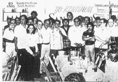 14012018 Gustavo Torres (f), Pérez Pulido, Vega Máynez (f), Ángel Cervantes (f) y Antonio Lozoya, entre otros, en su tradicional festejo anual.