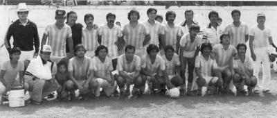 14012018 Equipo BAMS, campeón de la 2a. Fuerza, invicto 1982. Aparecen Jose Luis como entrenador, Hugo Sergio y Héctor Manuel Gómez.