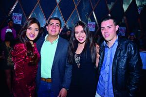 14012018 CELEBRAN SU AMISTAD.  Daniela, Carlos, Fernanda y Paliñha.