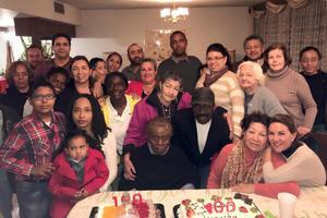 16012018 CUMPLE UN SIGLO.  Sra. Juana Núñez de Orta acompañada de familiares y amigos en su festejo de cumpleaños.
