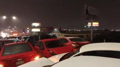 Los vehículos estuvieron prensados entre sí por alrededor de dos horas.