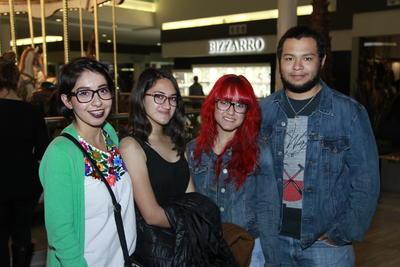 Fátima, Diana, Sheila y Alejandro.
