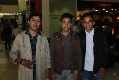 Luis, Adrián y Fernando.