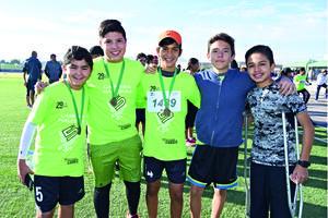 18012018 AMIGOS.  Diego, Mauricio, Diego, Pablo y Frank.