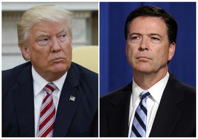 09 mayo .- Trump causa un sismo político al despedir al director del FBI, James Comey, quien dirigía una investigación sobre los posibles lazos de su campaña con Rusia en las elecciones de 2016.