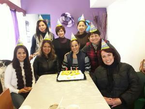 21012018 FELIZ CUMPLEAñOS.  Alma acompañada de Erika, Brenda, Vanessa, Nancy, Isela, Rocío y Luz en su celebración.