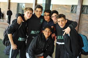 David, Aldo, Memo, José Miguel, Andrés e Isaac