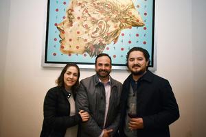 Marcela, Eduardo y Román