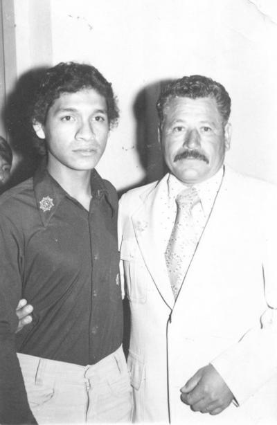 28012018 Norberto Rangel Ríos con su hijo, Javier Rangel, en 1977.