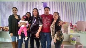 31012018 BABY SHOWER.  Susana con Alejandra, Jessica, Alondra, Saúl Mendoza y Florida.