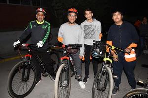 03022018 EN RODADA.  Julio Héctor, José María, Diego Alonso y Julio Héctor Jr.