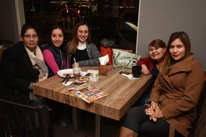 03022018 EN AMENA CONVIVENCIA.  Karla, Dulce, Liliana, Imelda y Olivia.