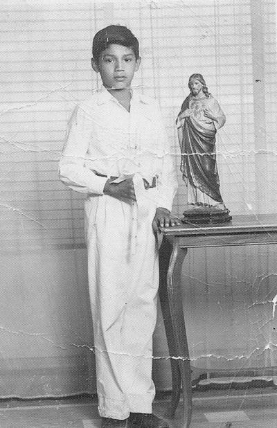 04022018 C.P. Juan Alberto de la O el día de su Primera Comunión en 1953.