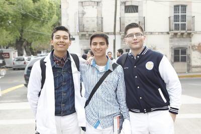Adrián Gurrola, Itiel Elizalde y Elman Rosado.