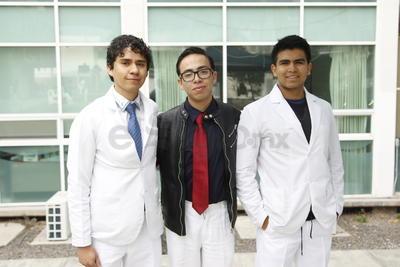 Adrián, Joel y Emiliano.