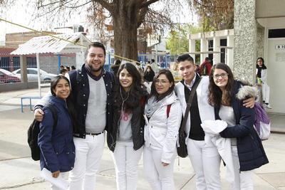 Daniela, Rubén, Daniela, Brenda, Ángel y Andrea.