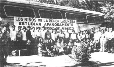 18022018 Alumnos de la Esc. Prim. Fed. de la Región Laguna en su visita al Presidente de la República el 28 de junio de 1971.