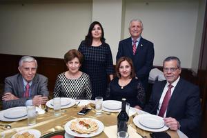20022018 Magda López, Guillermo Milán, Saúl Gómez, Bety de Gómez, Marcela Méndez y Heriberto Méndez Vigatá.