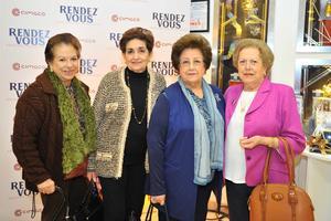 Pili, Rosy María, Elba y Elvia