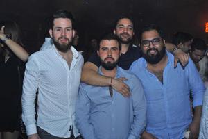 21022018 AMIGOS.  Rogelio, Luis Fernando, Charly y Julio.