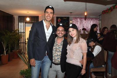 Eduardo Estrada, Tito Avalos y Diana Valeria Trejo.